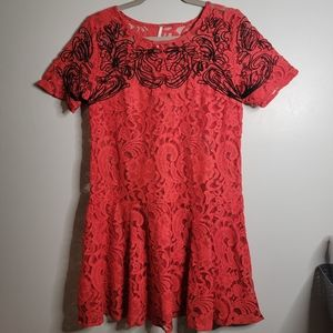 Free People   Small   Red Lace Dress
